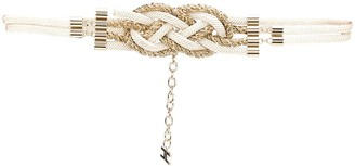 Elisabetta Franchi Braided Rope Belt