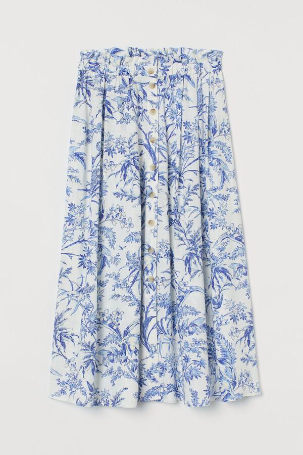Thumbnail for your product : H&M Linen-blend skirt