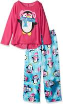 Komar Kids Girls' Big Girls' Penguin 2pc Sleepwear Set
