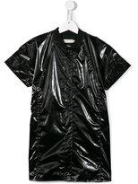 Andorine short sleeved bomber-style coat