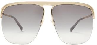 Givenchy Aviator Acetate Sunglasses - Black Beige