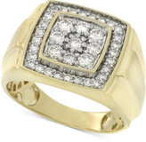 Macy's Men's Diamond Cluster Ring (1 ct. t.w.) in 10k Gold