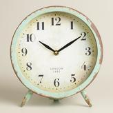 Cost Plus World Market Large Aqua Charlie Clock