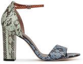 Reiss Piera Multi-Coloured Snakeskin Sandals