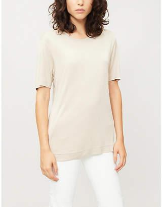 Joseph Round-neck silk-jersey T-shirt