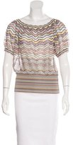 Missoni Striped Short Sleeve Sweater