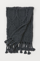 H&M Textured-knit Throw - Gray