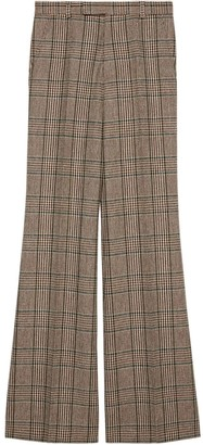 Gucci Prince of Wales flared trousers