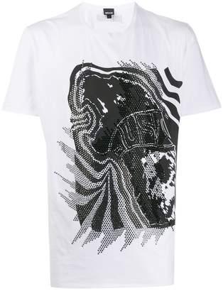 Just Cavalli embellished graphic-print T-shirt