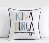 Pottery Barn Kids Kowabunga Decorative Pillow, 16x16in, Multi