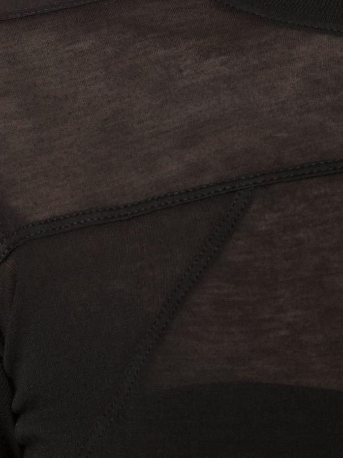 Rick Owens longsleeved sheer T-shirt