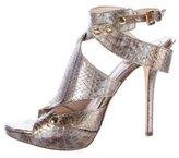 Christian Dior Metallic Embossed Sandals