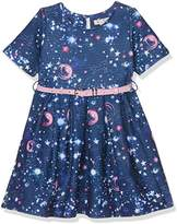 Yumi Girl's Galaxy Print Skater Dress