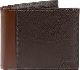 Lee Men's RFID-Blocking Tumbled-Leather Passcase Bifold Wallet