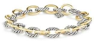 David Yurman Medium Oval Link Bracelet With 18K Gold