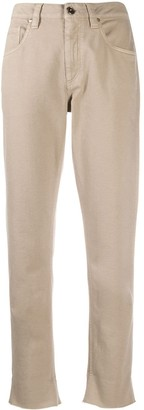 Brunello Cucinelli Cropped Five-Pocket Trousers