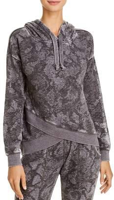 Vintage Havana Snake Print Hooded Sweatshirt