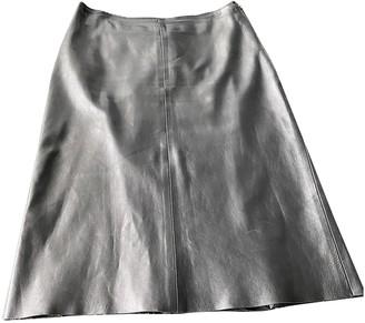 Jil Sander Black Leather Skirts