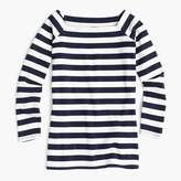 J.Crew Long-sleeve off-the-shoulder striped T-shirt
