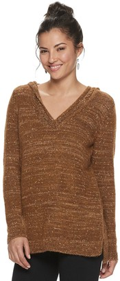 Sonoma Goods For Life Women's Supersoft V-neck Hooded Sweater