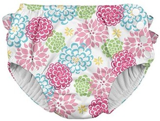 I Play Baby and Toddler Girls Ruffle Snap Reusable Absorbent Swim Diaper