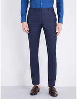 Corneliani Slim-fit Linen And Wool-blend Trousers