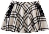 Kate Spade Girls' Plaid Skirt with Button Details