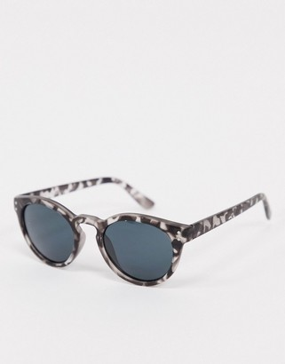 A. J. Morgan AJ Morgan round sunglasses in grey tortoise shell