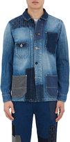 FDMTL Men's Patchwork Denim Shirt Jacket