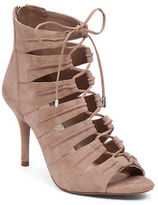 Jessica Simpson Mahiri Suede Open Toe Booties