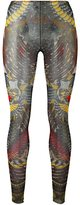 DSQUARED2 tattoo leggings - women - Cotton/Polyamide/Spandex/Elastane - M