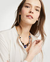 Ann Taylor Enamel Flower Statement Necklace