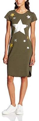 TANTRA Women's DRESS9755 Rope Crew Neck Short Sleeve Dress - Green - Large