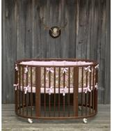 Baby Oval Crib Bedding - Garden