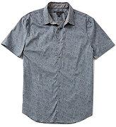 John Varvatos Floral Short-Sleeve Woven Shirt