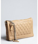 Jimmy Choo buff quilted leather 'Bex' double chain foldover small shoulder bag
