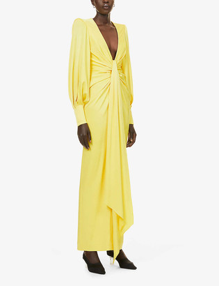 Alex Perry Dane balloon-sleeve satin gown