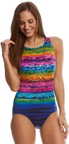 Longitude St. Lucia High Neck Tank One Piece Swimsuit 8150570