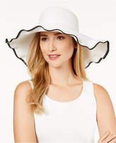 Nine West Packable Ruffle Floppy Sun Hat