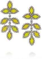 Elizabeth Cole Hematite-plated Swarovski crystal earrings