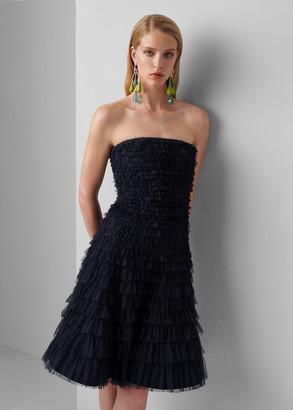 Ralph Lauren Jordynn Sequined Tulle Dress