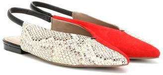 Mercedes Castillo Evetta leather slingback flats