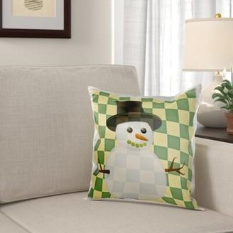 AR+ The Holiday Aisle Mcspadden Checkered Christmas Snowman Ar Pillow Cover The Holiday Aisle