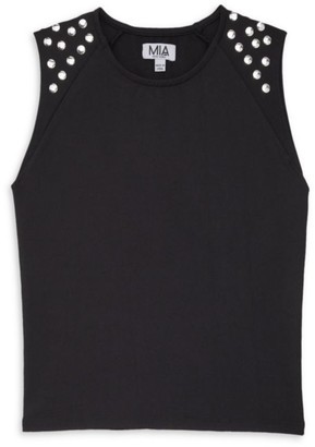 MIA New York Girl's Studded Embellished Top