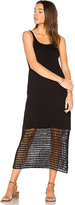Lacausa Crochet Slip Dress in Black. - size M (also in S,XS)
