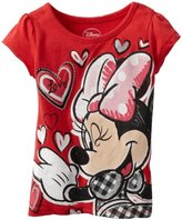 Disney Girls 2-6X Toddler Minnie Mouse Love Tee