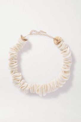 COMPLETEDWORKS String Of Perils Gold Vermeil Ceramic Necklace - White