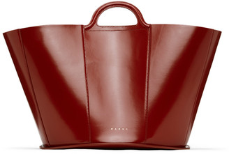 Marni Burgundy Medium Tropicalia Tote