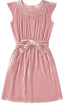 Jigsaw Girls' Silk Velvet Party Dress, Pink
