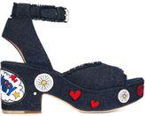Laurence Dacade 'Happoline Pop' sandals - women - Leather/Cotton - 39.5